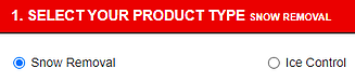 Select your product type